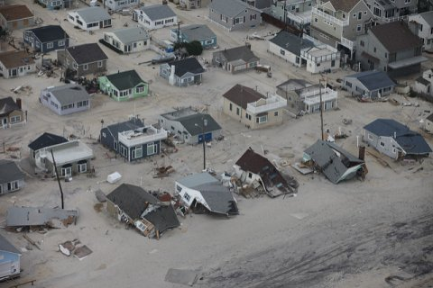 New Jersey shore following intense flooding after Hurricane Sandy. Credit: Greg Thompson/USFWS.